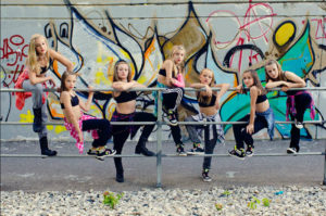 Hip Hop Dance Students