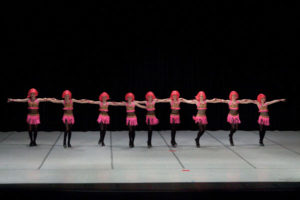 Competitive dance team performance